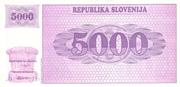 5000 Tolarjev – reverse