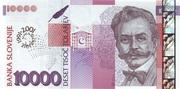 10 000  Tolarjev (10 Years Bank of Slovenia) – obverse
