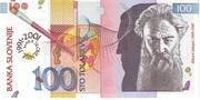 100 Tolarjev (10 Years Bank of Slovenia) -  obverse