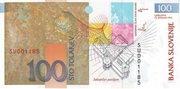 100 Tolarjev (10 Years Bank of Slovenia) -  reverse