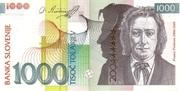 1000 Tolarjev (EU Entry) – obverse