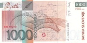 1000 Tolarjev (EU Entry) -  reverse