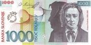 1000 Tolarjev (10 Years Bank of Slovenia) – obverse