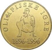 5 Tolarjev (Olympics Centennial) – reverse