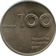 100 Tolarjev (Slovenia and the Tolar Anniversary) – obverse