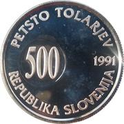 500 Tolarjev (Plebiscite on Independence) – obverse