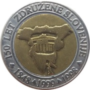 3 Euro (150th Anniversary of united Slovenia) -  obverse