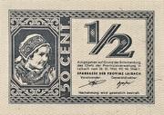 1/2 lire – reverse