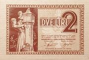 2 lire – obverse