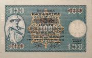 100 lira – obverse