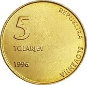 5 Tolarjev (Independence) – obverse