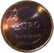 3 Euro (Tolmin Peasant Revolt) -  obverse