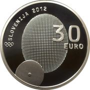 30 Euro (1st Slovene Olympic Medalist) -  obverse