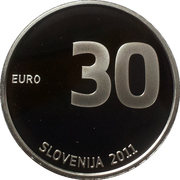 30 Euro (Anniversary of Independence) -  obverse