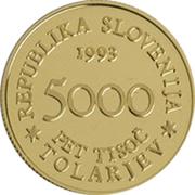 5000 Tolarjev (Battle of Sisek) – obverse
