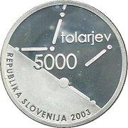 5000 Tolarjev (Slovenian Assembly) -  obverse