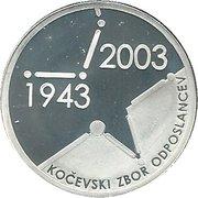 5000 Tolarjev (Slovenian Assembly) -  reverse