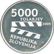 5000 Tolarjev (Centennial of Slovene Film) -  obverse