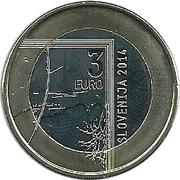 3 Euro (Janez Puhar) -  obverse