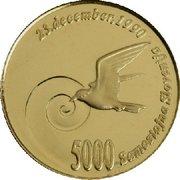 5000 Tolarjev (Plebiscite on Independence) – reverse