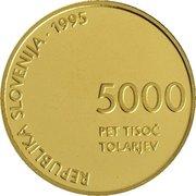 5000 Tolarjev (Defeat of Fascism) -  obverse