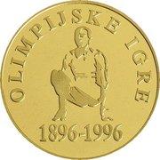 5000 Tolarjev (Olympics Centennial) -  reverse