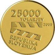 25 000 Tolarjev (Centennial of Slovene Film) -  obverse