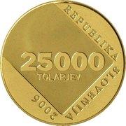 25 000 Tolarjev (Anton Aškerc) -  obverse