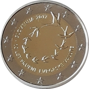 2 Euro (10th Anniversary of the Euro in Slovenia) -  obverse