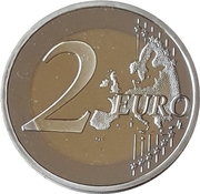 2 Euro (10th Anniversary of the Euro in Slovenia) -  reverse