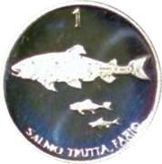 1 Tolar (Silver) – reverse