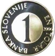 1 Tolar (Silver) – obverse