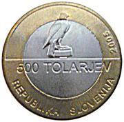 500 Tolarjev (Centennial of Slovene Sokol Association) – obverse