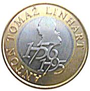 500 Tolarjev (250th Birthday of Anton Tomaž Linhart) – reverse