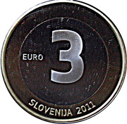 3 Euro (Anniversary of Independence) -  obverse