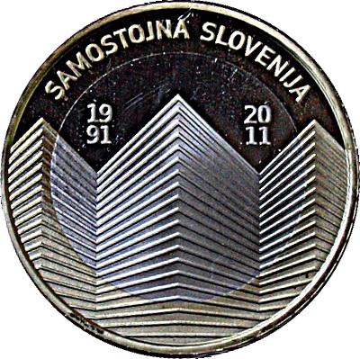 SLOVENIA 3 € Euro commemorative coin 2011 Slovenia/'s independence 20 UNC