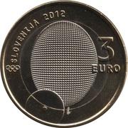 3 Euro (1st Slovene Olympic Medalist) -  obverse