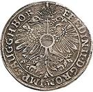 1 Thaler - Wilhelm I. zu Greiffenstein and Reinhard zu Hungen (Ausbeutetaler) – reverse