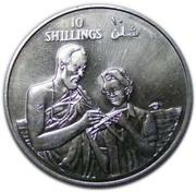 10 Shillings (10th Anniversary of Republic) – reverse