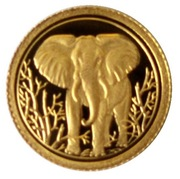 200 Shillings (Elephant; Gold Bullion Coinage) -  obverse