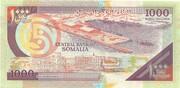 1000 Shilin / 1000 Shillings – reverse