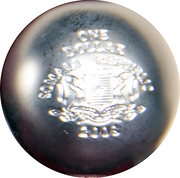 1 Dollar (Volume geometrical figures - Sphere) – obverse