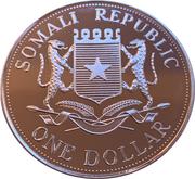 1 Dollar (Queen Mother - Catafalque) – obverse