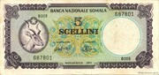 5 Scellini / 5 Somali Shillings – obverse