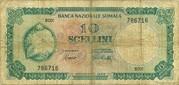 10 Scellini / 10 Somali Shillings – obverse