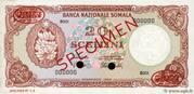 20 Scellini / 20 Somali Shillings – obverse