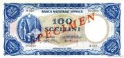100 Scellini / 100 Somali Shillings – obverse