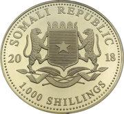 1000 Shillings (Elephant) -  obverse