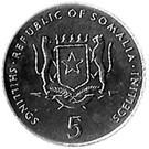 5 Shillings (FAO) – obverse