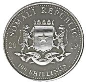 100 Shillings (Elephant) – obverse